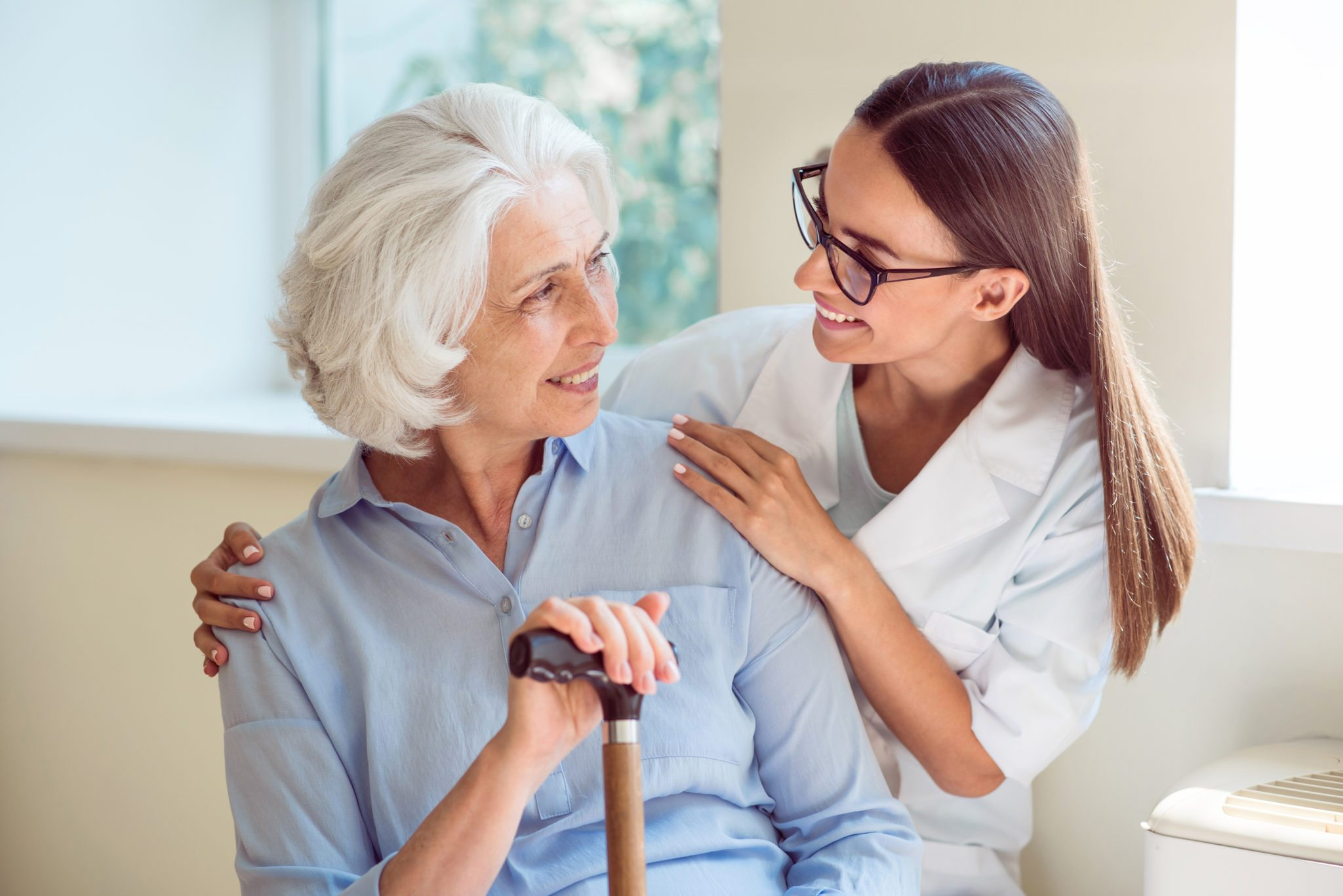 professionally trained caregivers