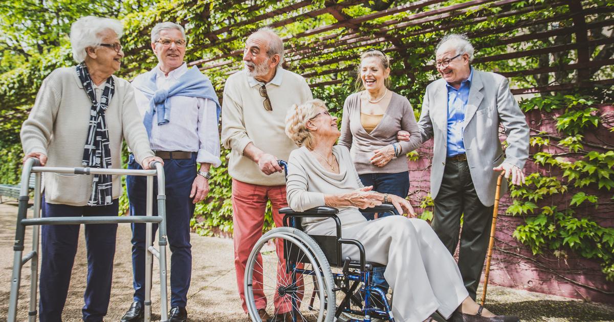 Socially active seniors